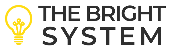 The Bright System logo v1.0 - yellow and black